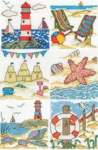 Beach Scenes, Seaside Mini Cross Stitch Kits