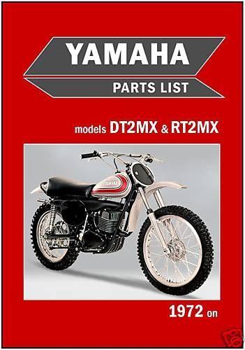 Yamaha Parts Manual Dt2mx Dt2 Rt2mx Rt2 1972 Replacement Spares
