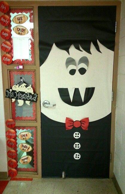 Halloween Classroom Decorations Make : My vampire door for october decor bulletin