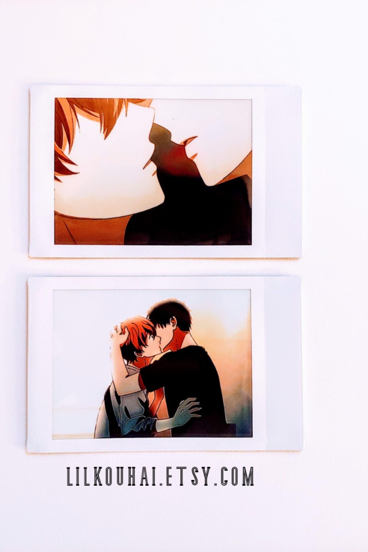 Mafuyu Ritsuka Mini Polaroid Set Kiss Scene 2 Polaroids Given Anime Mini Polaroid Set Mini Polaroid Given Anime Mafuyu And Uenoyama Given anime computer wallpaper