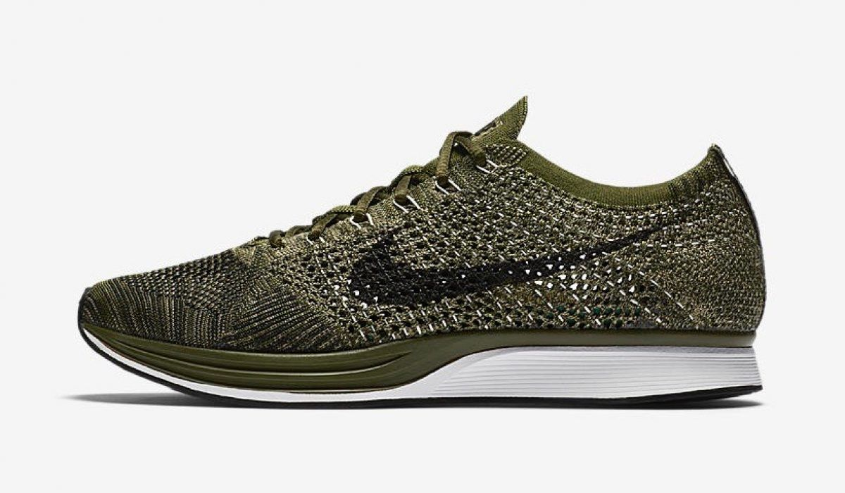 reputable site 435d2 85f18 Nike Flyknit Racer – Olive Green womens shoes