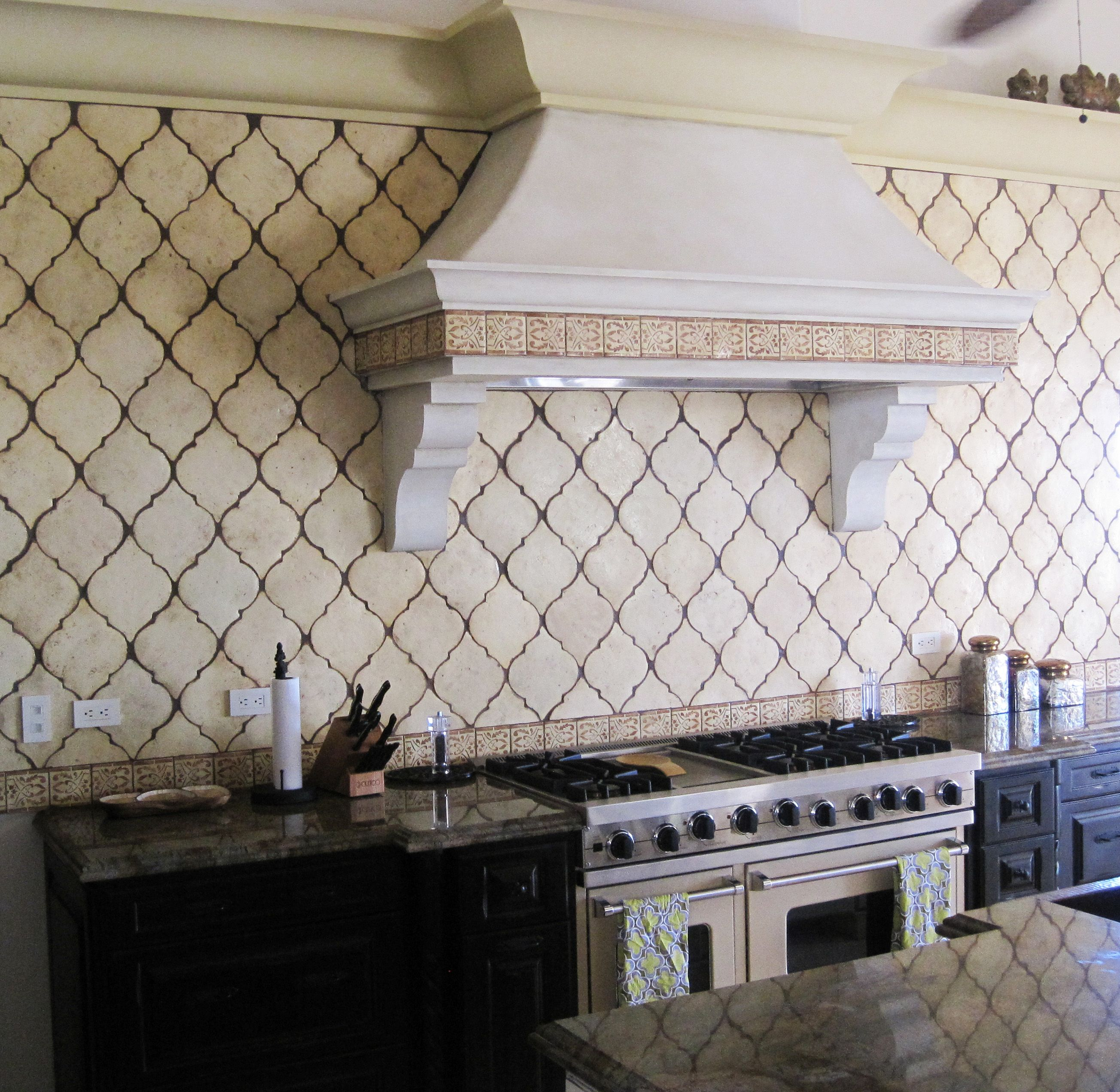 Arabesque Tile Backsplash Shape Adds Old World Texture Without Adding A Lot Of Pattern The