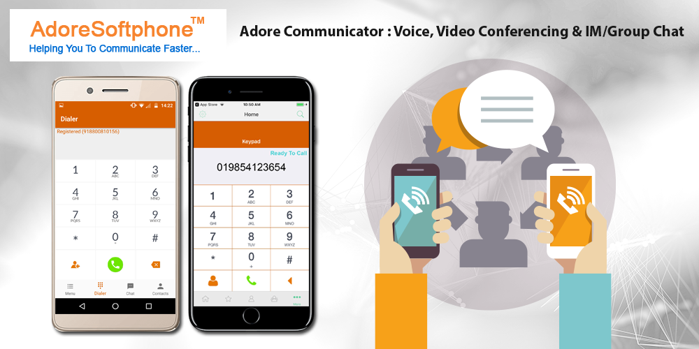 Adore Communicator built-on the SIP platform, allows you to