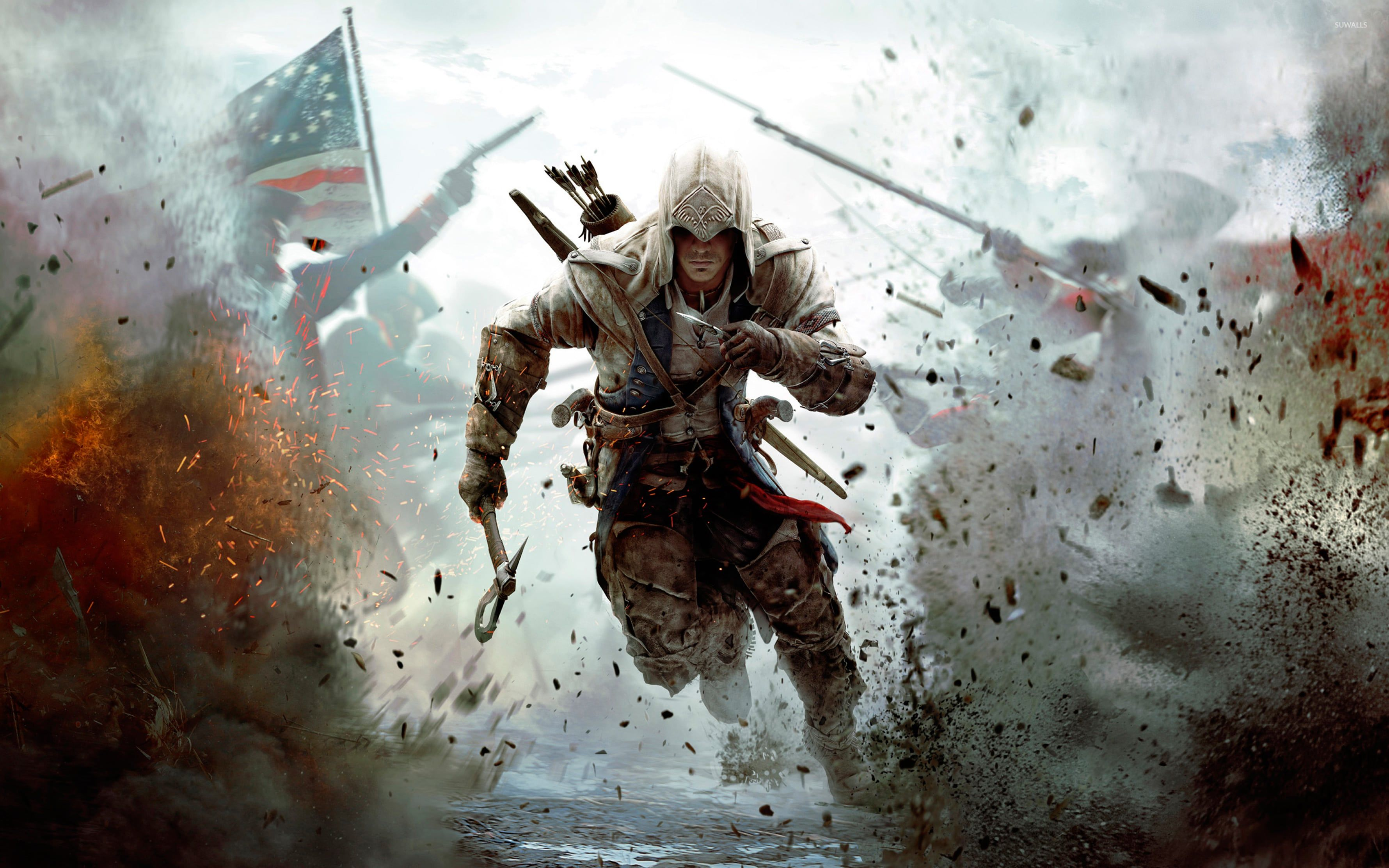 New Assassin S Creed 4k Desktop Wallpaper Size 3560 2225 Assassin S Creed Wallpaper Assassins Creed Logo Assassins Creed 3