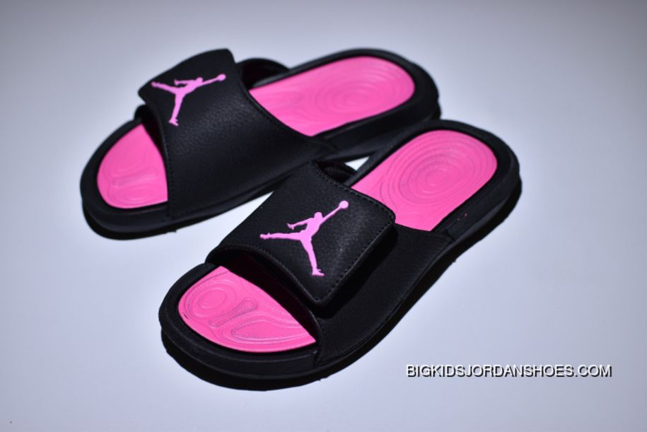 b99253c2c386 Air Jordan Hydro 6 Sandals Black Pink Women