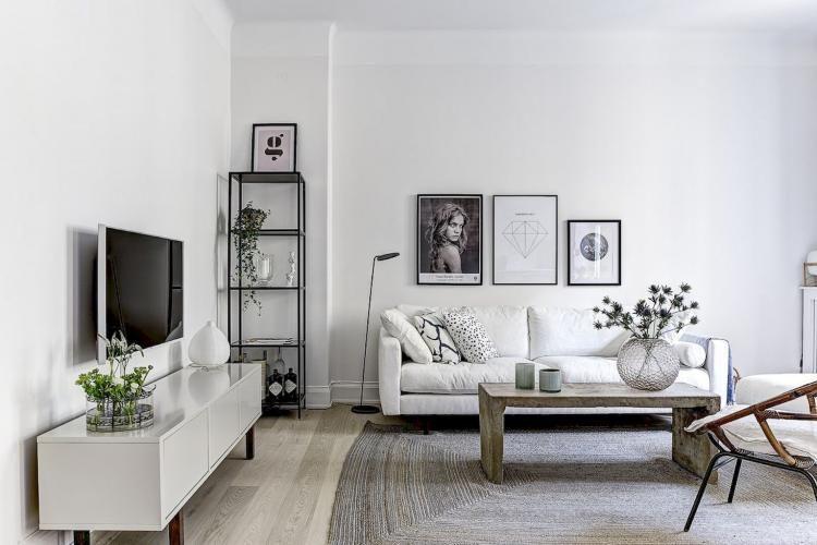 90 simple and elegant scandinavian living room decor - Simple elegant living room design ...