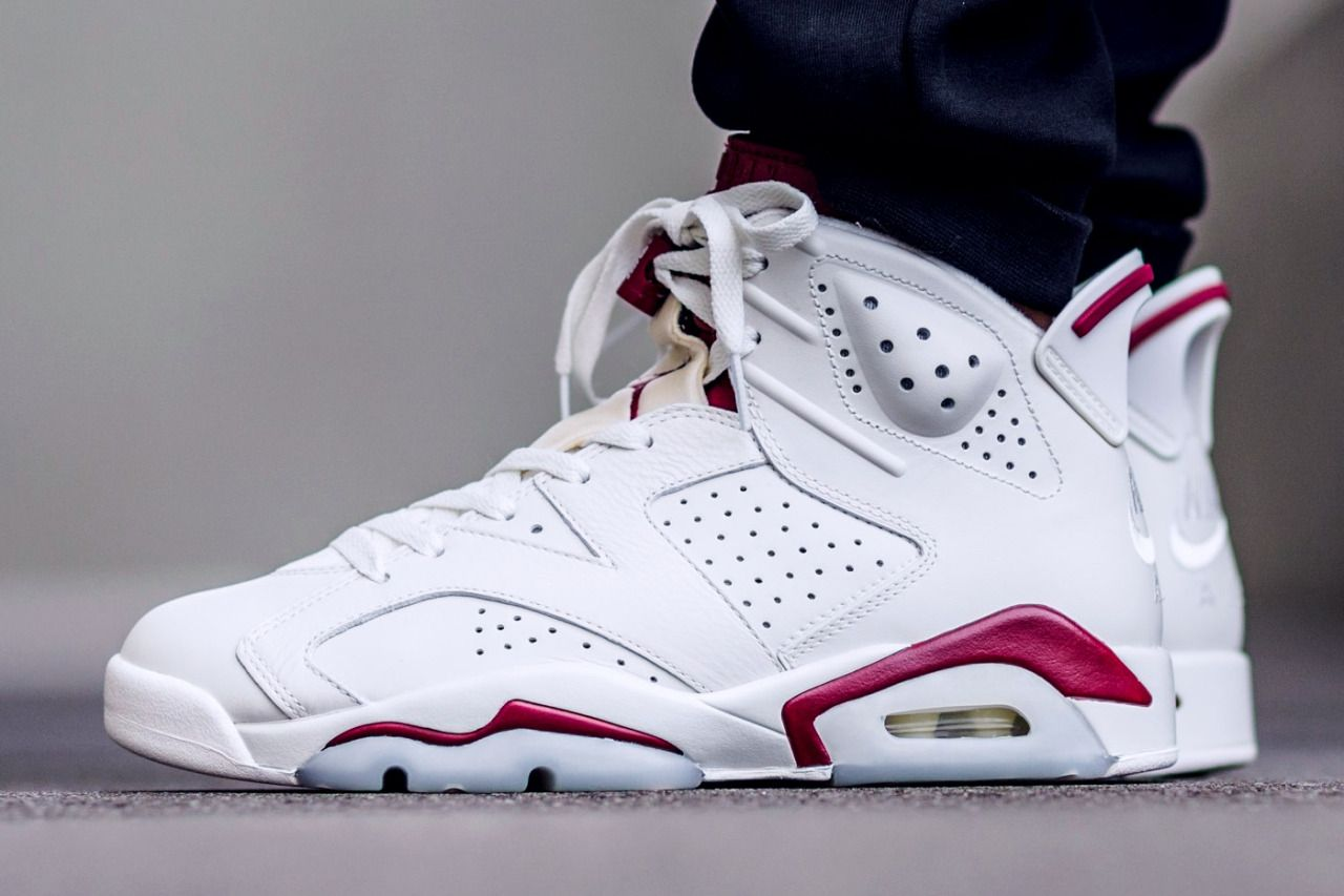 new product b9059 0ceb1 Air Jordan 6 Retro 'Off White / New Maroon' (via Kicks-daily ...