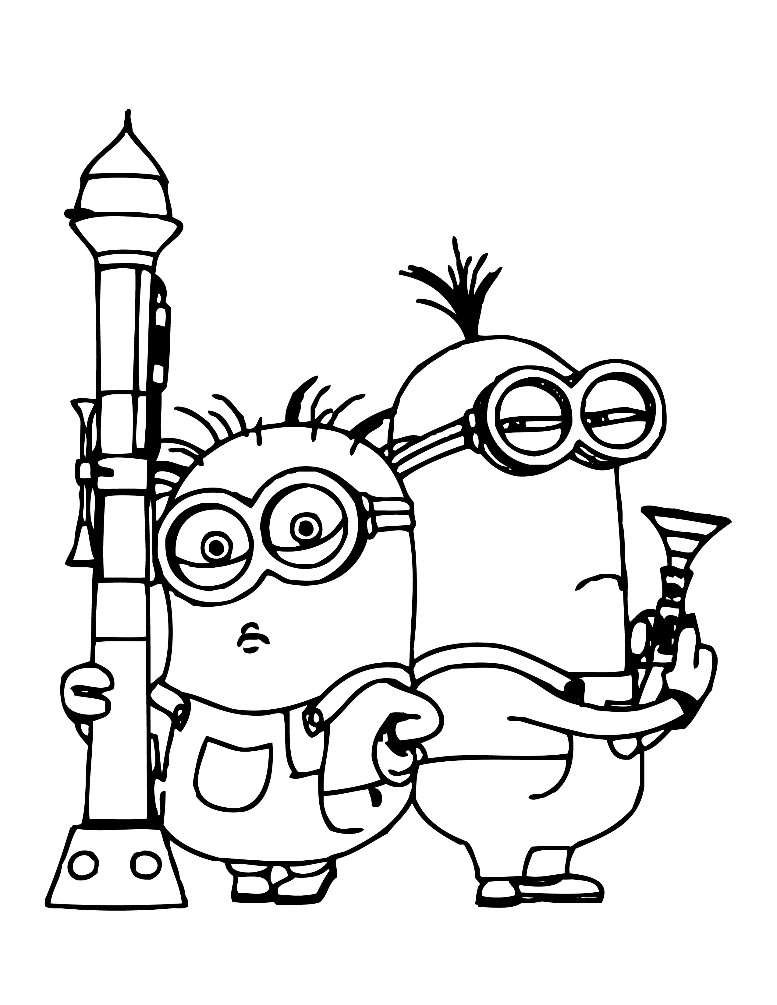 Download Minion Rush Coloriage A Imprimer Minion Coloring Pages