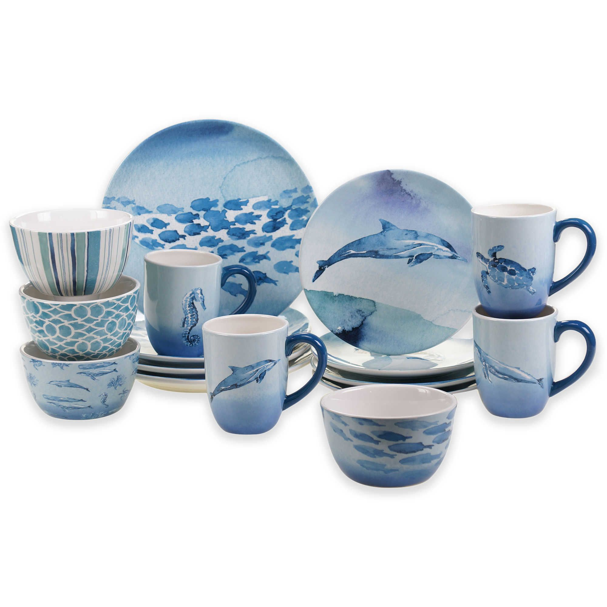 Certified international parisian fruit canister by susan winget set - Certified International Sea Life Dinnerware Collection Dinnerware Sets