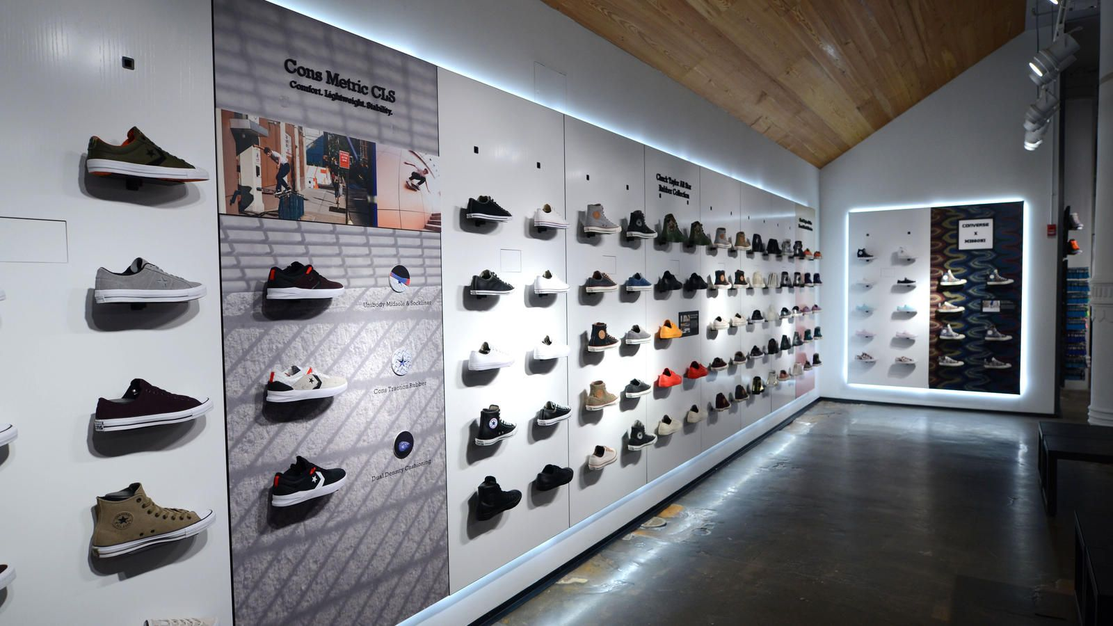 Converse Revamps Soho Store Creating Largest Converse Shop In The World Shoe Store Design Store Design Interior Store Design