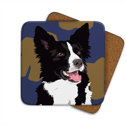 Border Collie Coaster 2 50 At Www Twowoofs Co Uk Dog Gifts