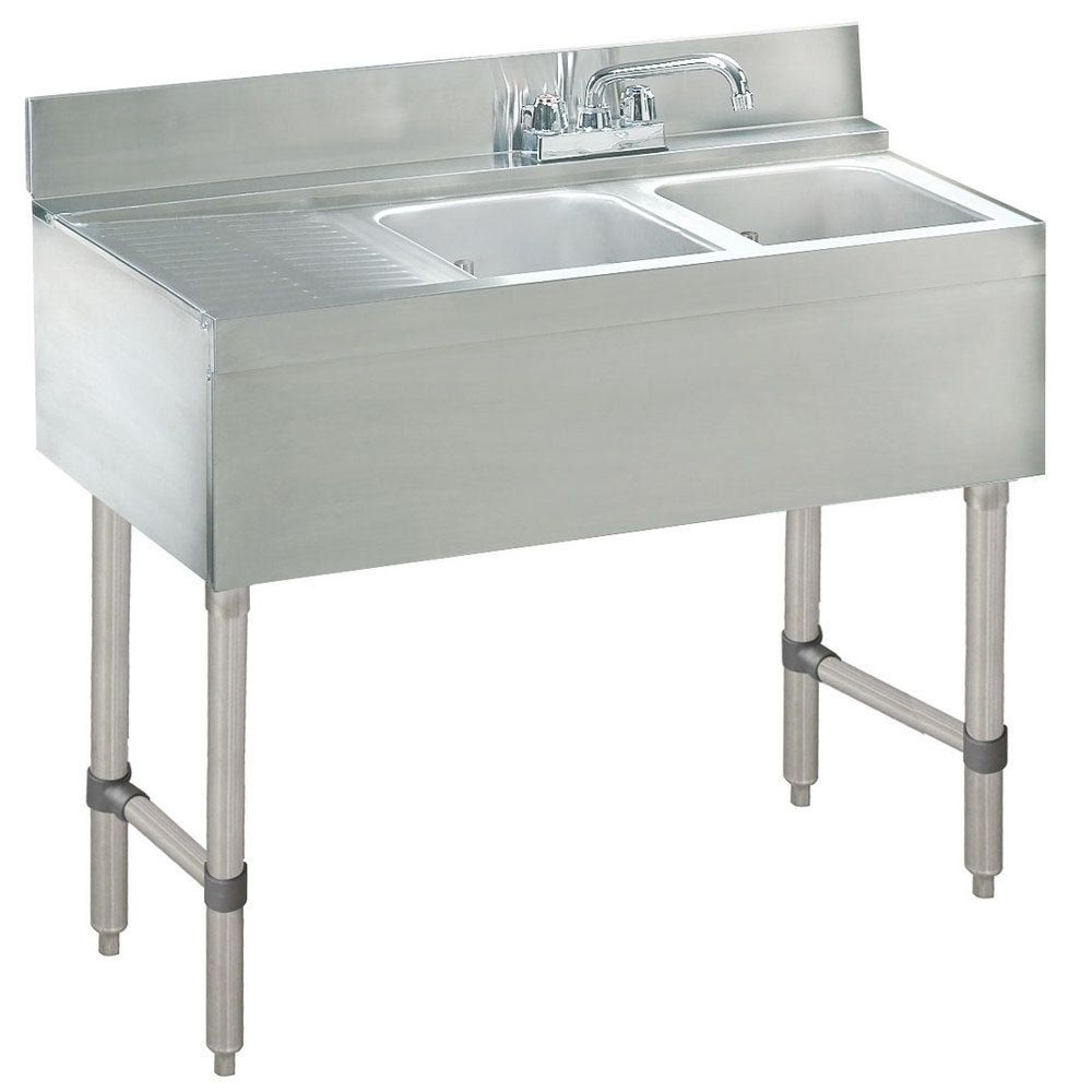 Advance Tabco Crb 42r Lite Two Compartment Sink Bar Sink Free