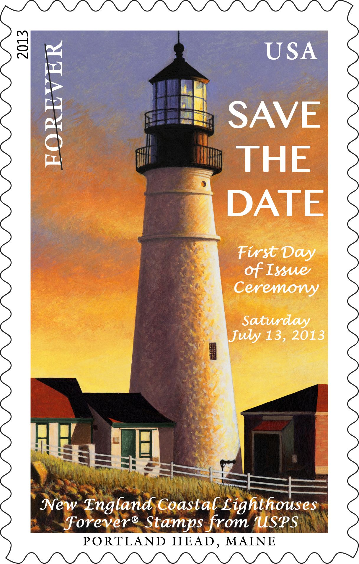 Save the date official first day of issue events for the new official first day of issue events for the new england coastal lighthouses forever stamps will take place on saturday july 13 2013 at 10 am special freerunsca Gallery