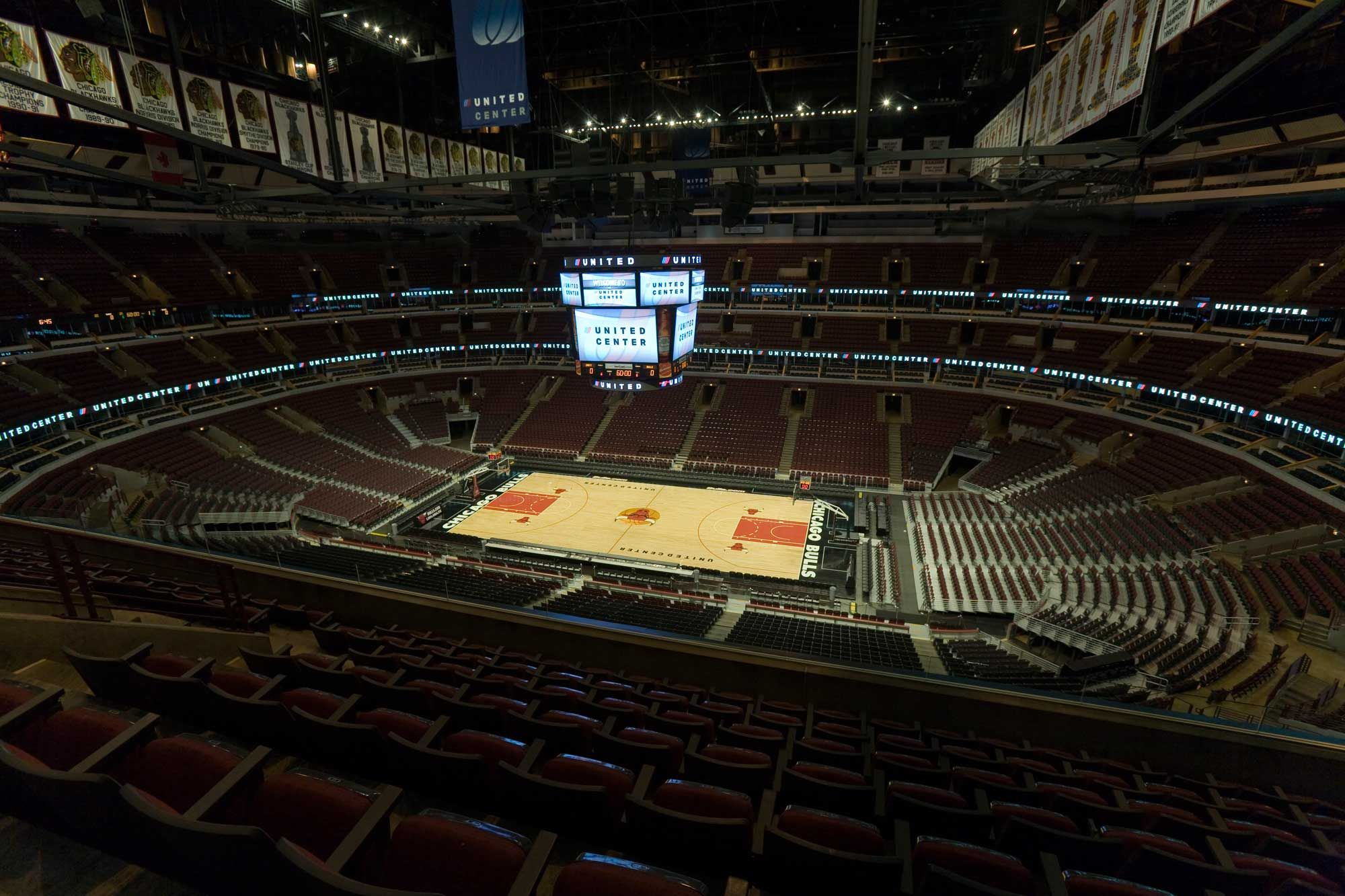 This Image Is Of The United Center It Is Were