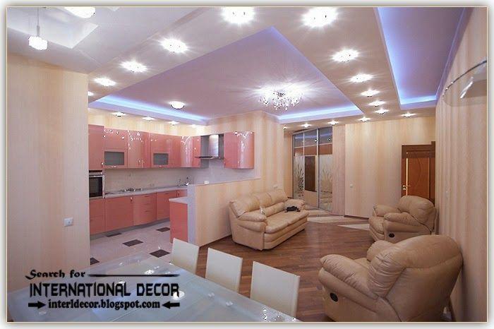 Modern Pop False Ceiling Designs Ideas 2015 Spotlight For Living Room Part 84