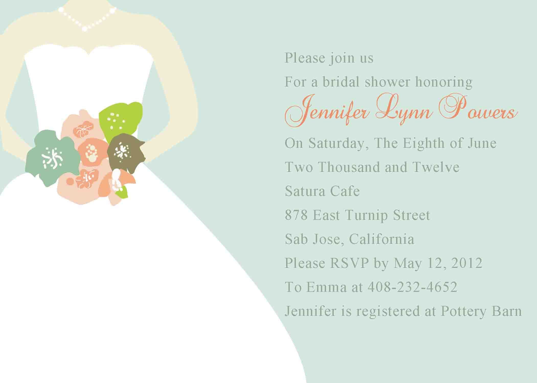 bridal shower invitation wording adults only - Wedding Shower Invitation Template