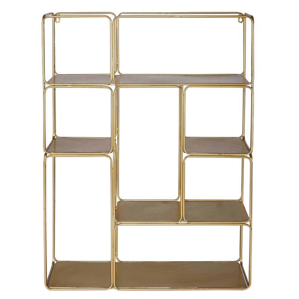 Étagère déstructurée en métal doré Metal shelves