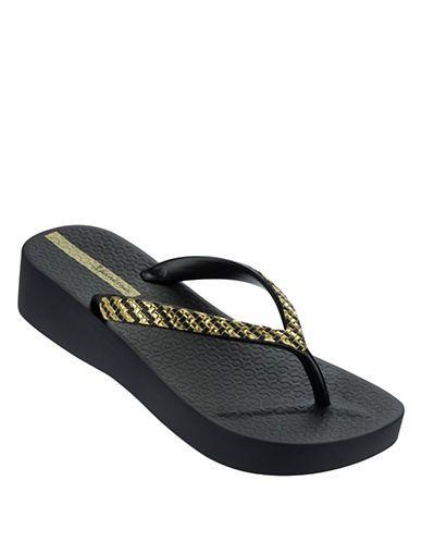 91287063b Ipanema Mesh Platform Flip Flops Women s Black 6