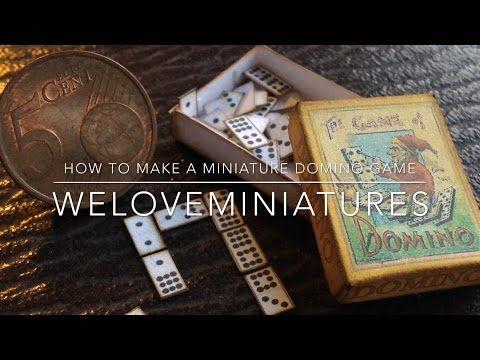 How to make miniature domino game - YouTube