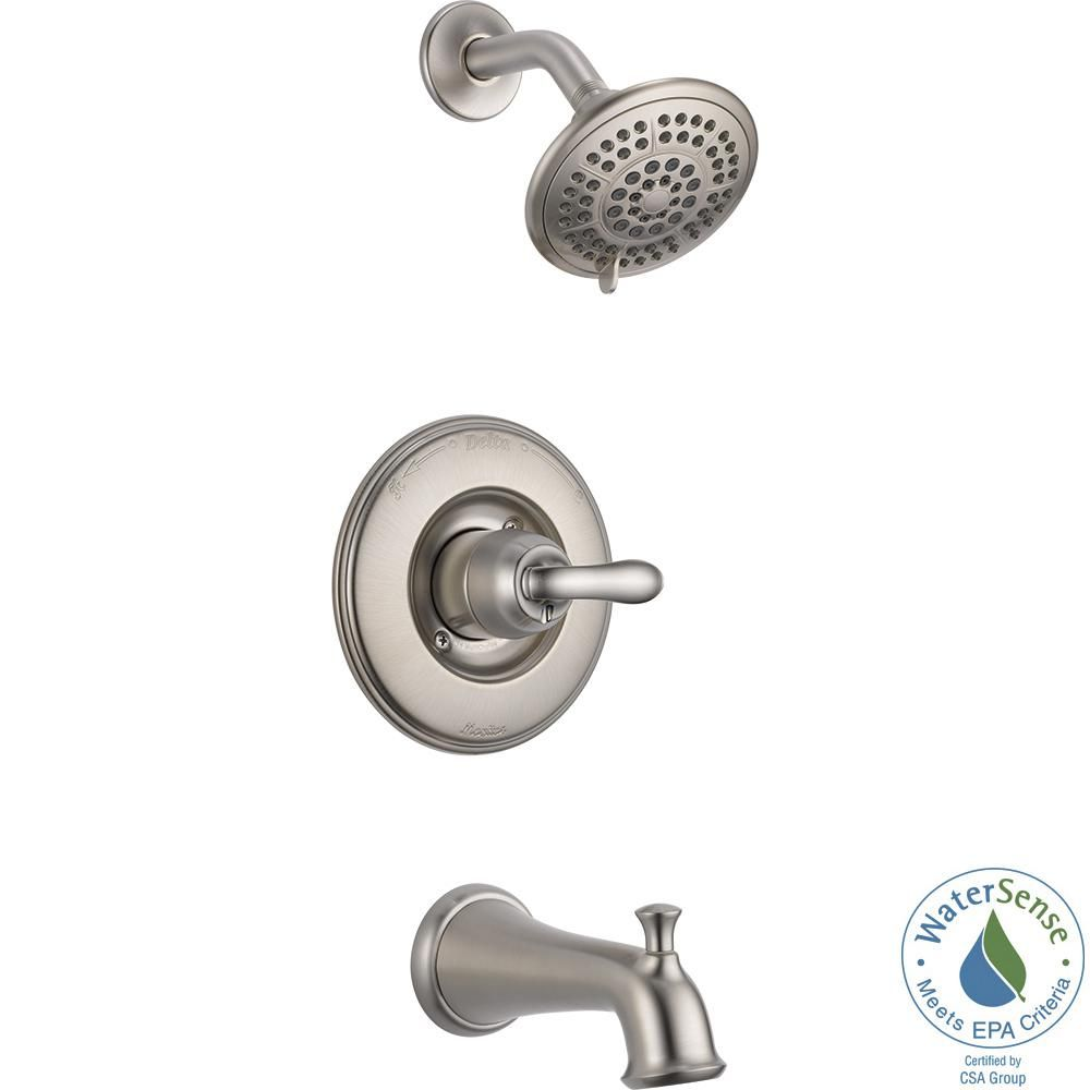 Delta Linden 1 Handle 1 Spray Tub And Shower Faucet Trim Kit In