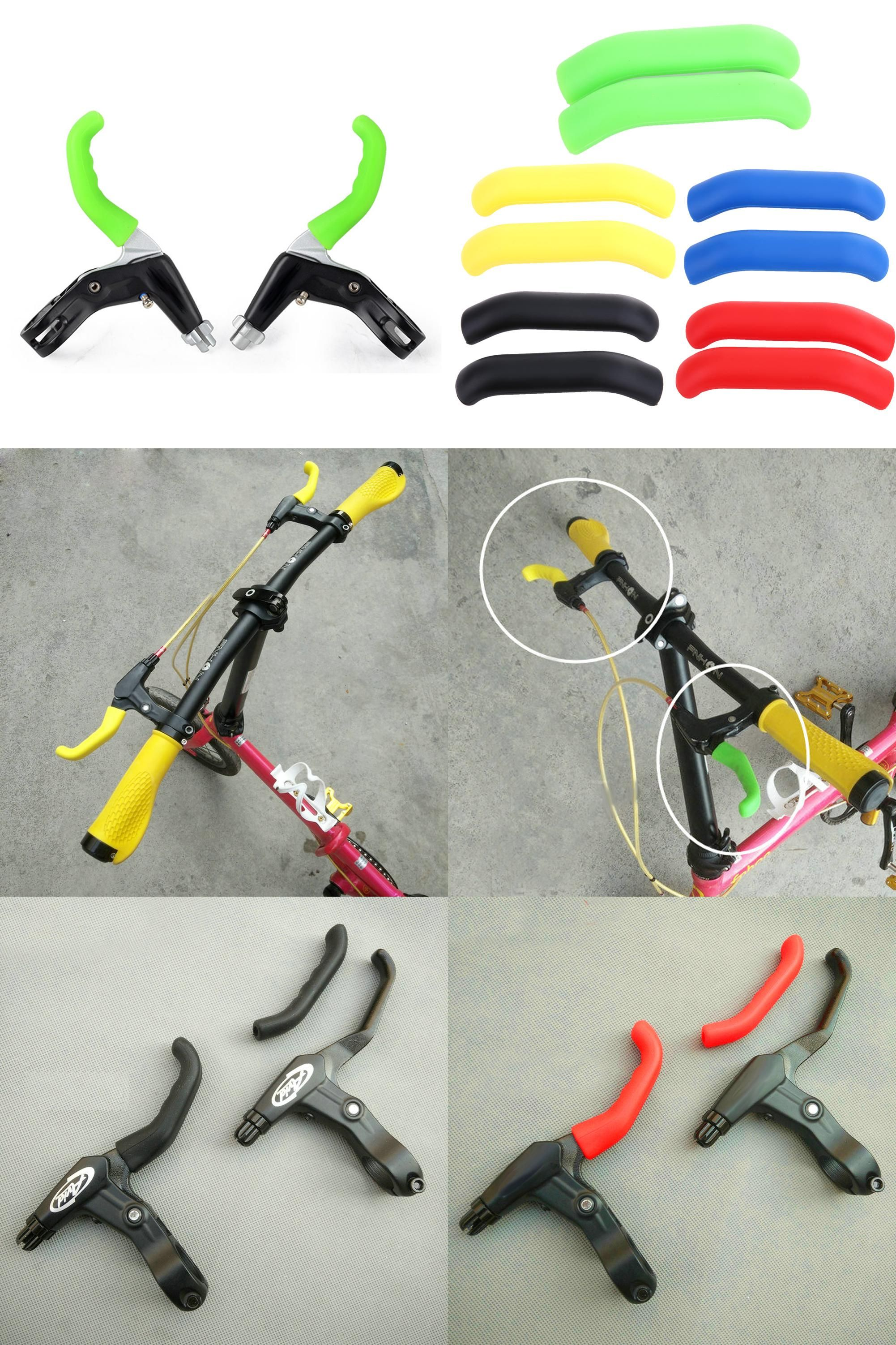 2pcs Bike Cycling MTB BMX Brake Cover Lever Grips Protector Anti-Skid Yellow