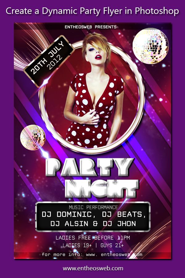 Learn How to Create a Dynamic Party Flyer in Photoshop | Photoshop ...