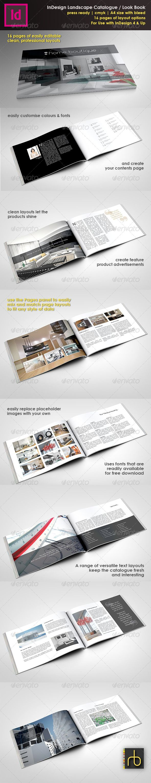 a4 landscape brochure look book indesign template adobe serif a4 landscape brochure look book indesign template catalogs brochures
