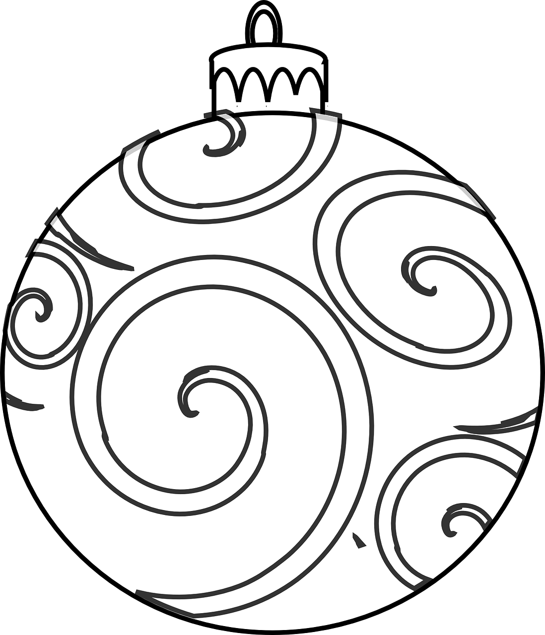 easy coloring pages christmas - photo#23