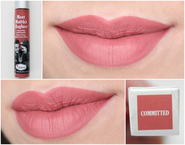 The Balm Meet Matt(e) Hughes long-lasting liquid lipstick Committed