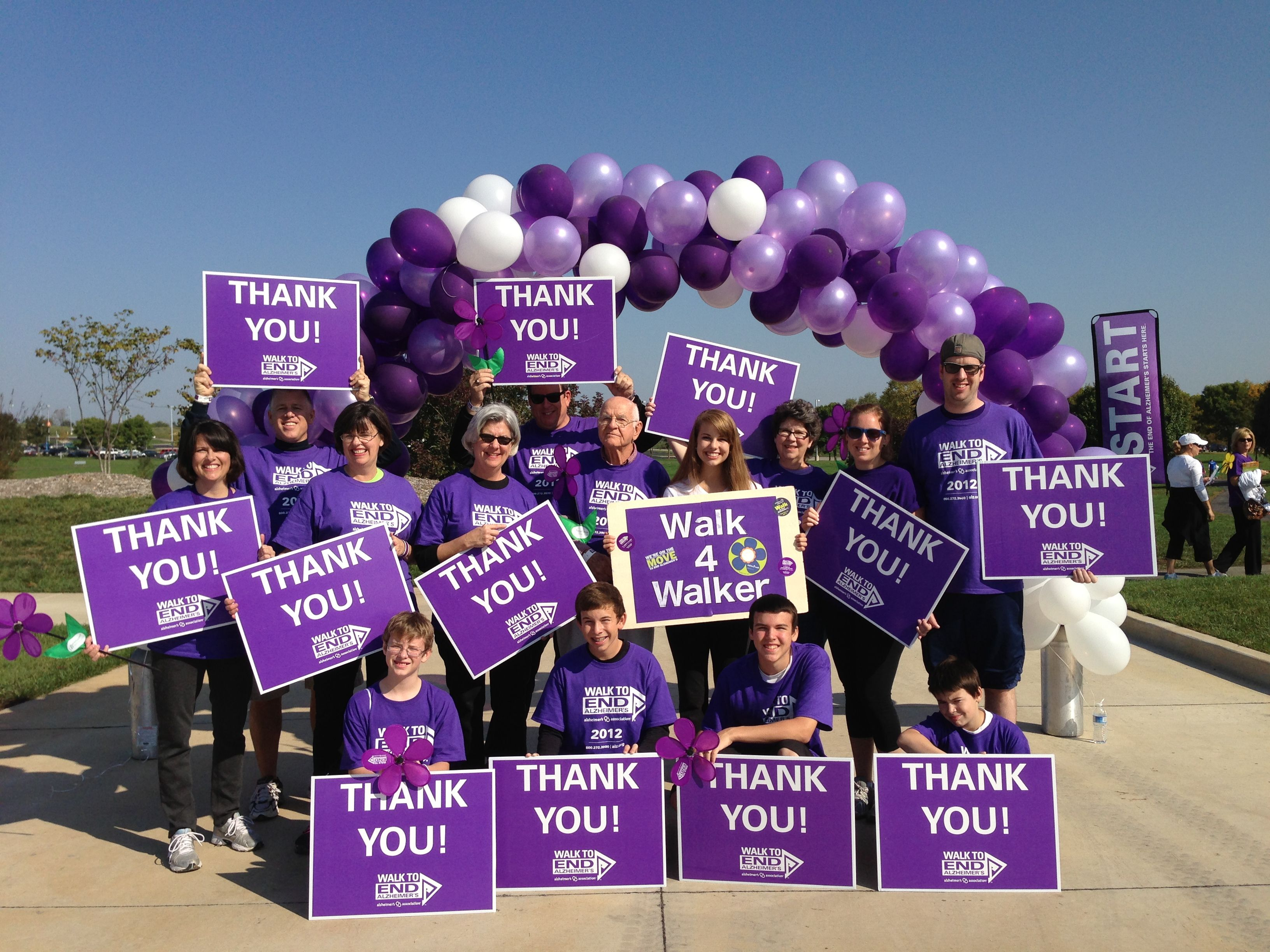 We are walking for a World WITHOUT Alzheimer's. Thank you