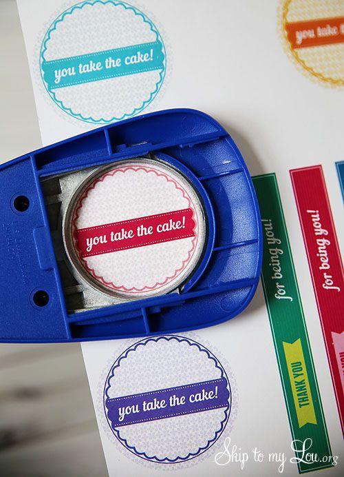 You take the cake printable tags
