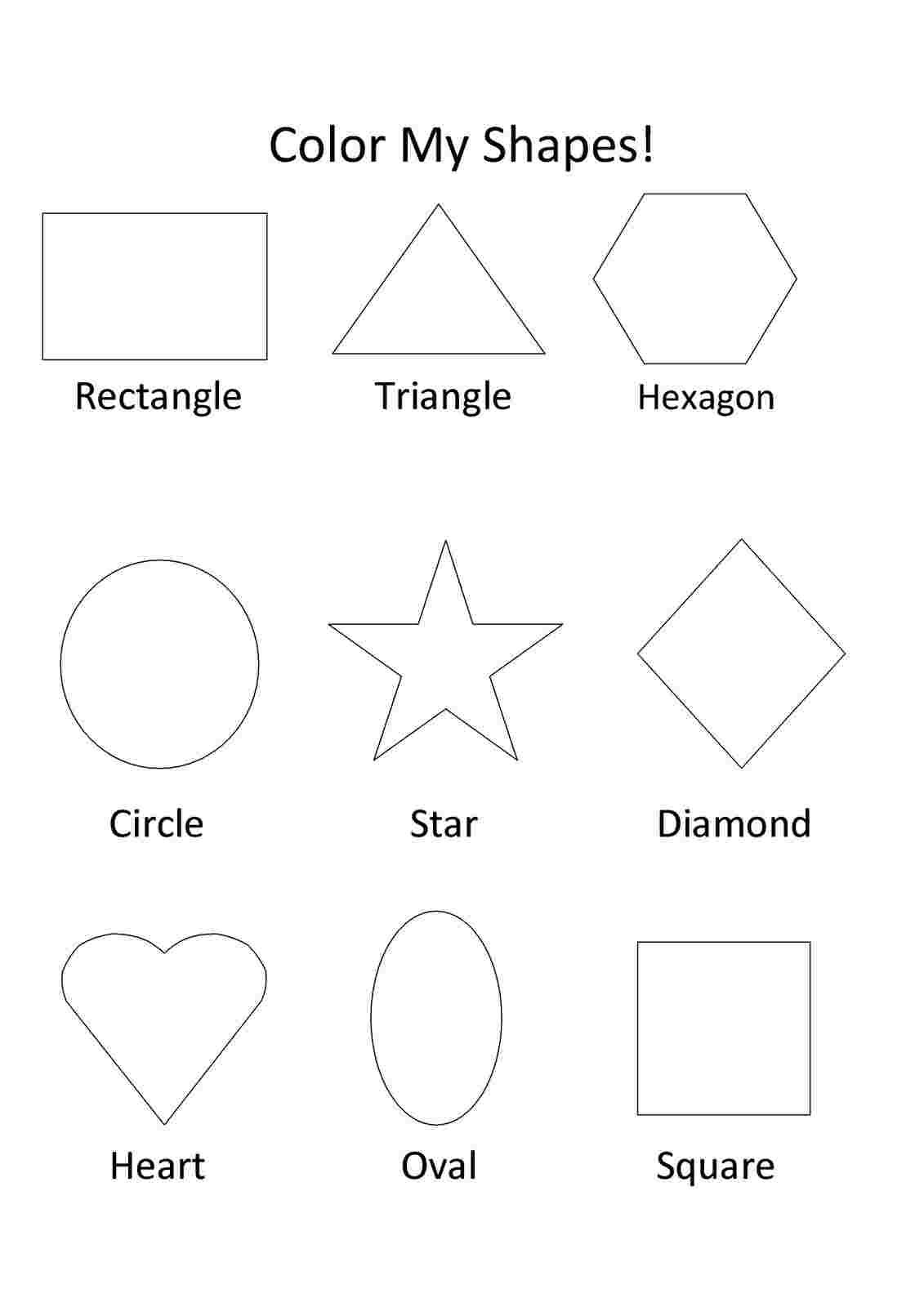 Coloring Festival Free Preschool Coloring Pages Shapes