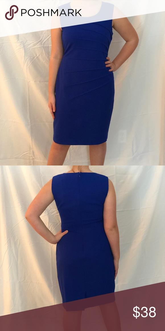1f832b5b6e4 Calvin Klein Size 10 Royal Blue Sheath Dress Calvin Klein Size 10 Royal Blue  Sheath Dress
