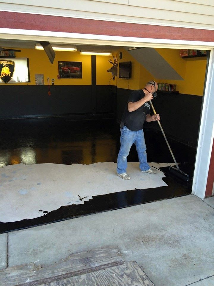 Polyaspartic Black Base Coat With Images Floor Coating