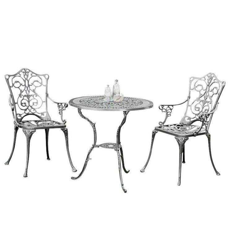 Balcony Furniture Set 3 Parts Cast Aluminum Merxx Order Now At Moebel Gartenmobel Aluminum Balco Gartenmobel Sets Balkonmobel Set Gartenmobel