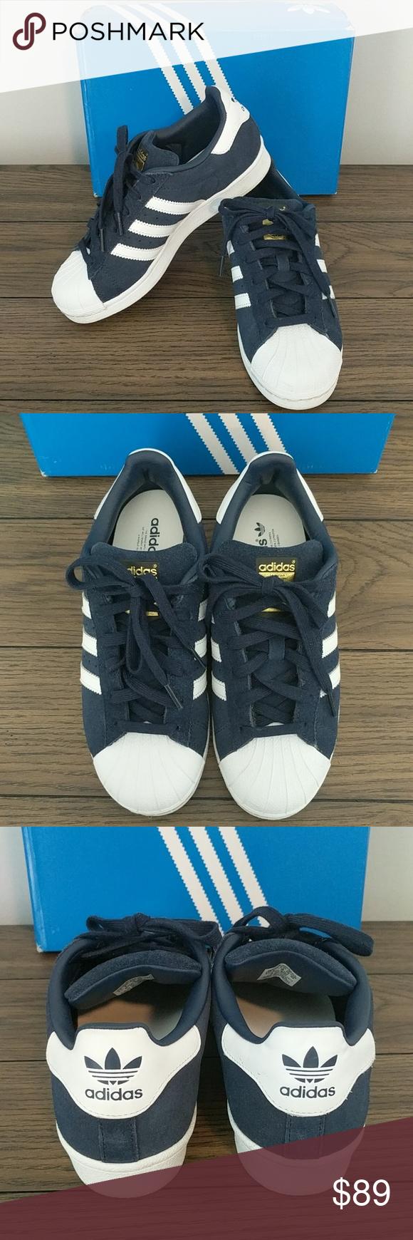 Adidas Superstar Blu Scamosciato Pinterest Adidas Superstar