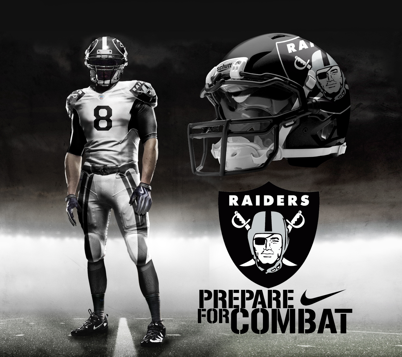 Awesome Unofficial Oakland Raiders Prototype Jersey. Can't