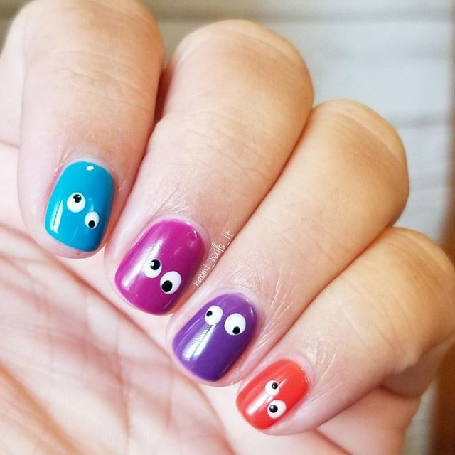 And the final googly/crazy eye manicure. So fun for ...