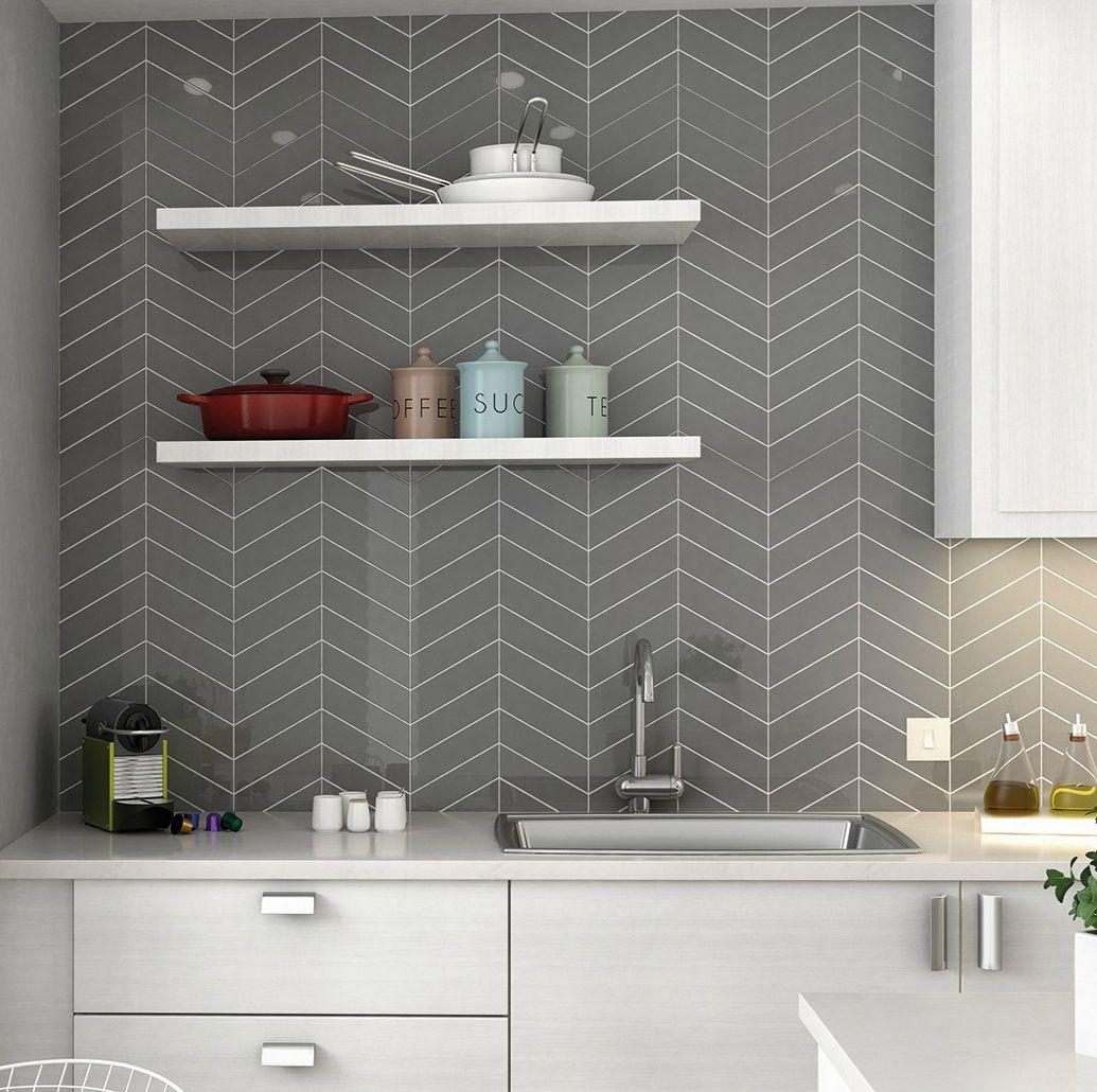 Chevron Ceramic - Dark Gray 2\