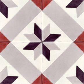 Carreau De Ciment Sol Et Mur Gris Noir Rouge Etoile L 20 X L 20 Cm Leroy Merlin Carreau De Ciment Carreaux Ciment Ciment
