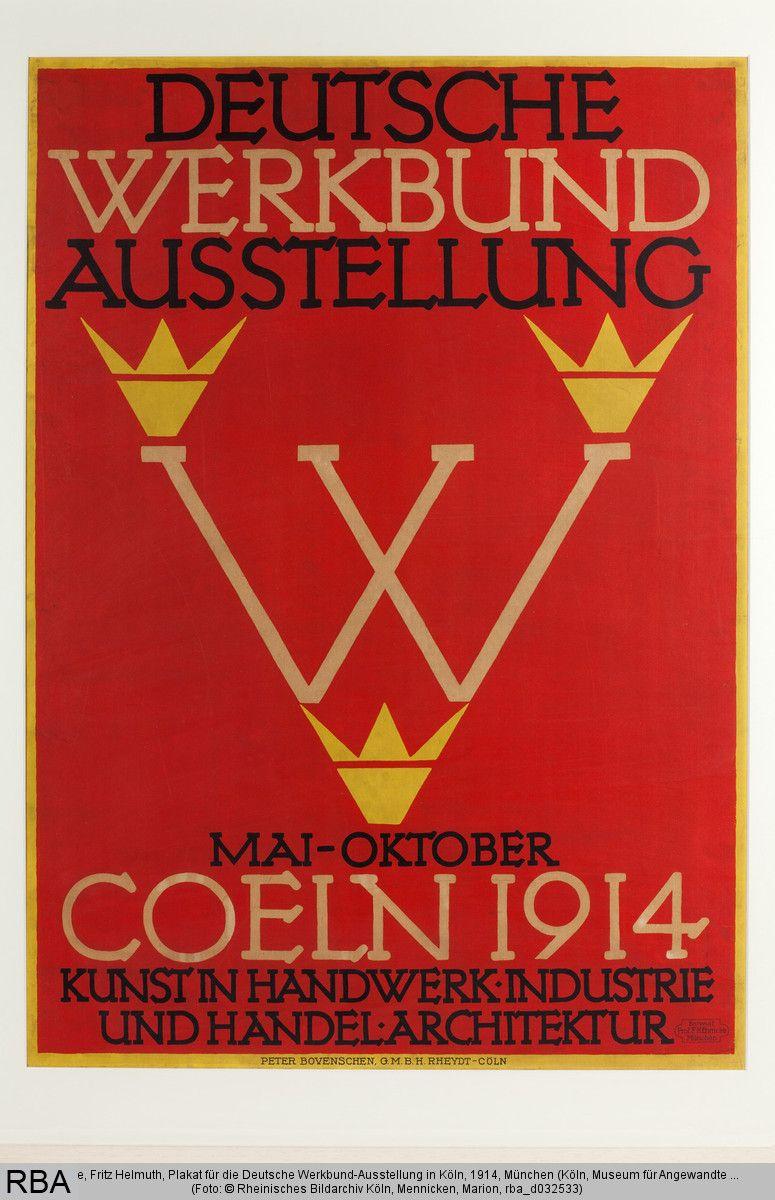 fritz helmuth ehmcke, plakat für die deutsche werkbund-ausstellung