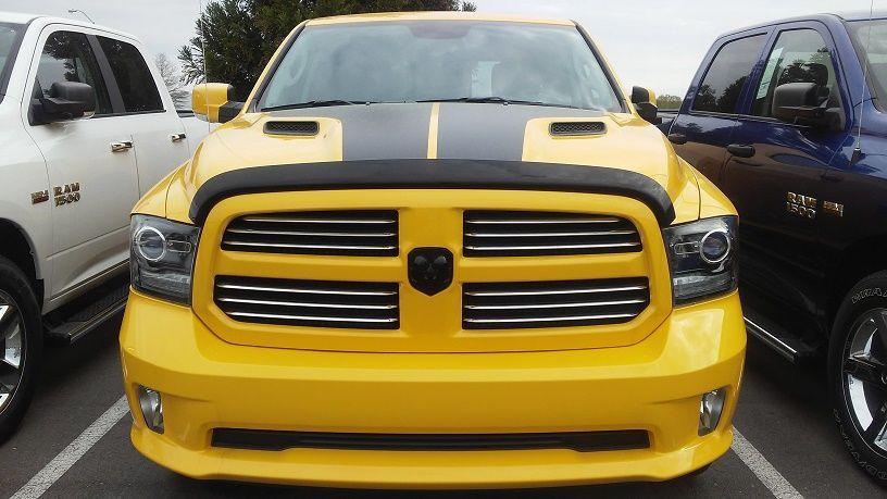 2016 Ram 1500 Sport Truck Crew Cab 4x4 yellow Ram sport