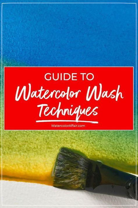 An easy to follow guide about watercolor wash techniques and how to paint different watercolor washes… | Watercolor wash. Watercolor paintings ...