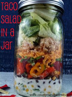 Coupons Make it Free Blog: My Salad in a Jar Experiment