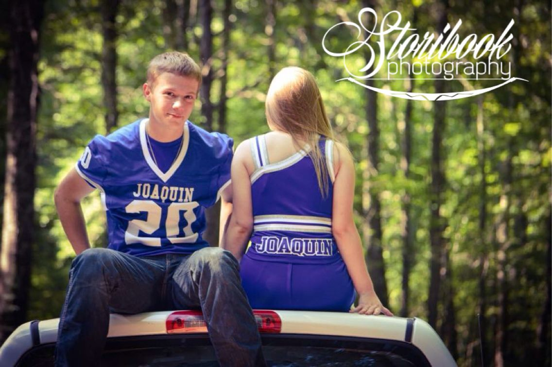 Teen photography, Football couple, cheerleaders, Teen Couples, High School Football