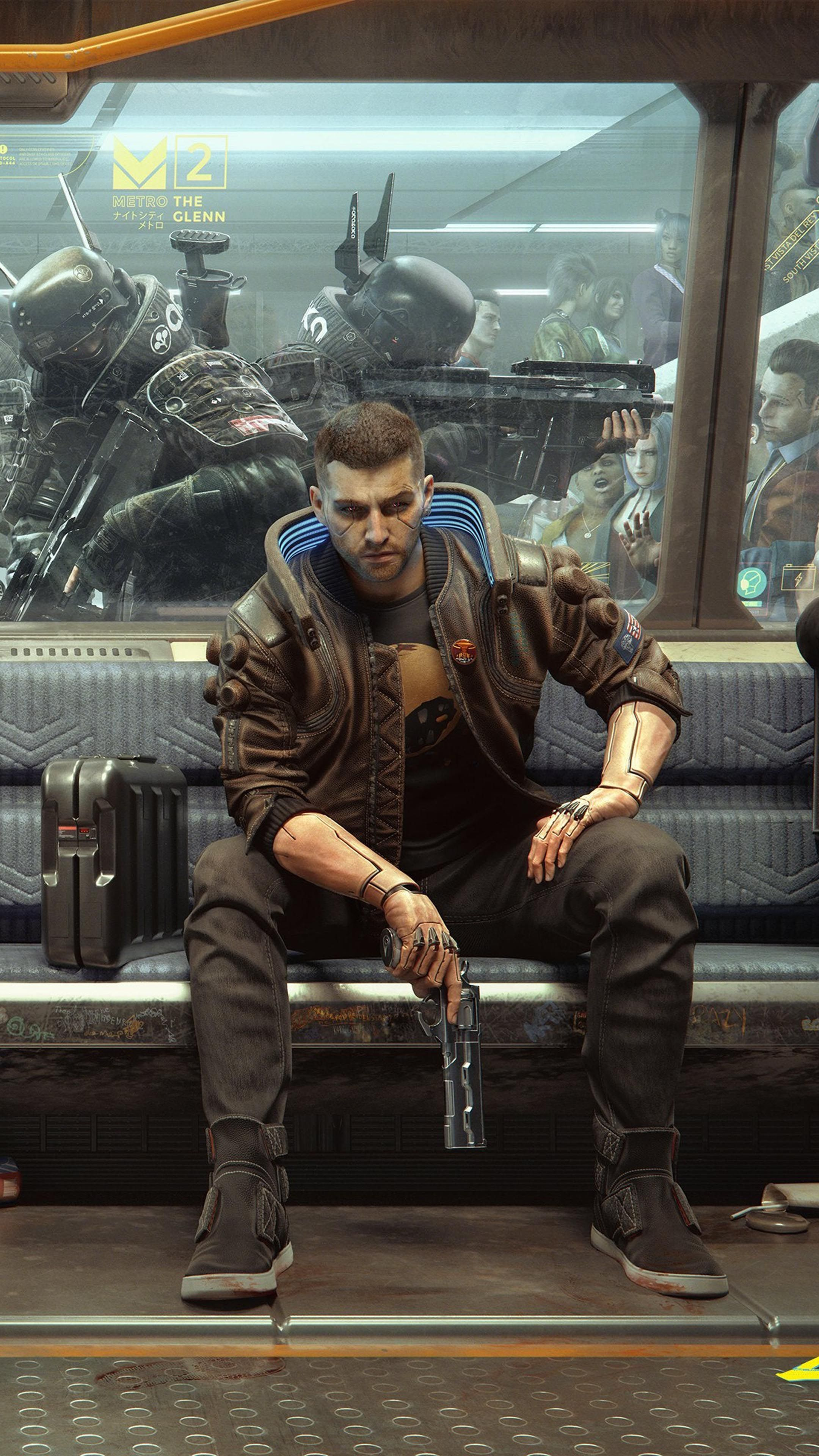 Cyberpunk 2077 Metro Soldiers 4k Ultra Hd Mobile Wallpaper In 2020 Cyberpunk 2077 Cyberpunk Cyberpunk Aesthetic