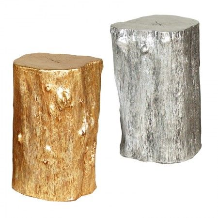 Gold Log Stool - Occasional Tables - Living