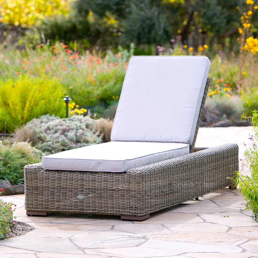 Sausalito Chaise in Natural with Sunbrella Cushion Pool