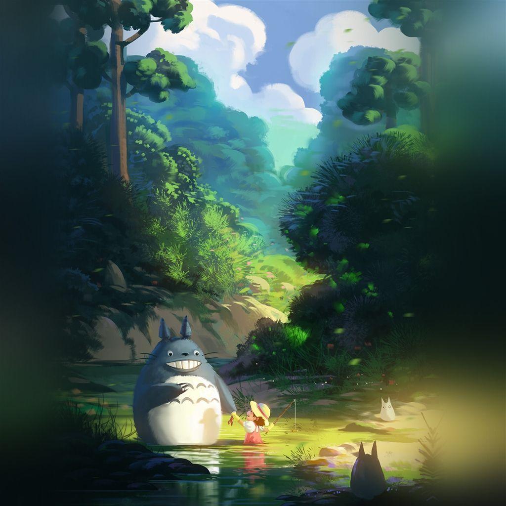 Totoro Anime Illustration Art Retina iPad Air