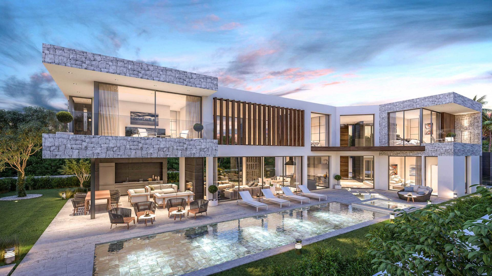 Construction And Design Of Luxury Villa For Sale In The Area Of Marbella And The Costa Del Sol By The Builder And Architects In M Modern Mansion Mansions Villa
